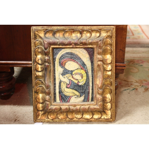 12 - CLAVE (XX). Modernist study of the Madonna and child, signed upper right, oil on board, framed, 19 x...