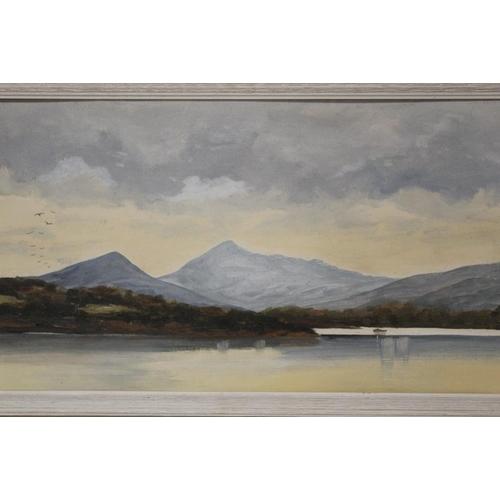 10 - HARRY McMANUS (XX) IRISH SCHOOL. 'Evening Sky, Howth Head, Dublin', see verso, signed lower right, o...