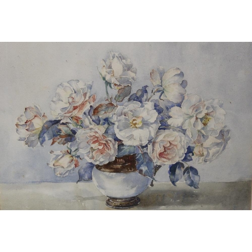 41 - ARTHUR WILSON GAY (1901-1955). Still life study of flowers in a vase, signed lower right, watercolou...