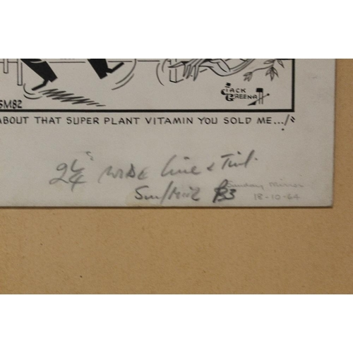 5 - JACK GREENHALL (b. 1905). An illustration from Useless Eustace 'About That Super Plant Vitamin You S...