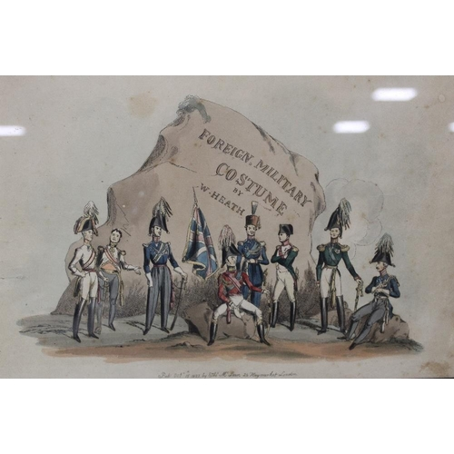 51 - TWO FRAMED AND GLAZED MILITARY INTEREST PICTURES TO INCLUDE A HAND COLOURED EXAMPLE