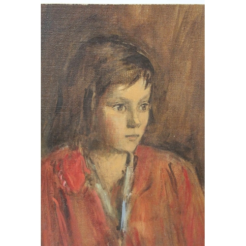 55 - MAURICE FEILD (1905-1988). An impressionist portrait study of a young girl. Unsigned, see studio sta...