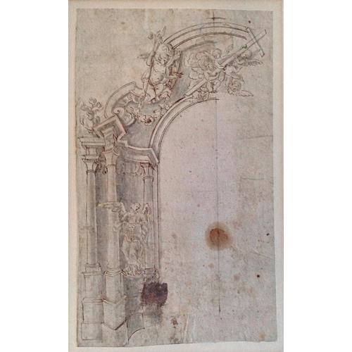 8 - Attributed to GIUSEPPE GALLI BIBIENA (Parma 1696 - 1756 Berlin)
