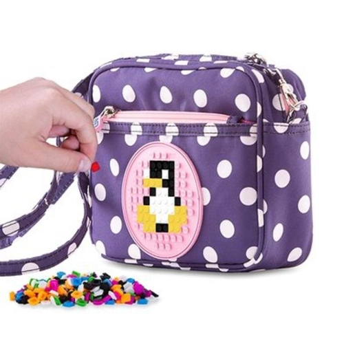 17 - Pixie Crew: Blue Should Bag With White Dots & Pink Polka Patch. RRP £19.50...