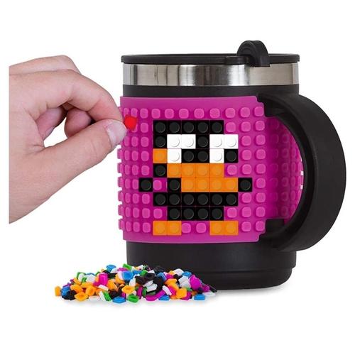 19 - Pixie Crew Thermo Mug, Pink/ Black. RRP £13.47...