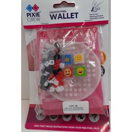 36 - Pixie Crew: Pink Creative Wallet With 55 Mixe Pixel. RRP £13.10