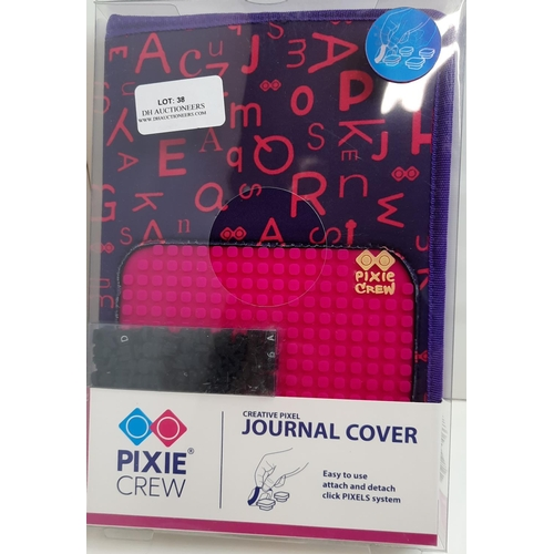 38 - Pixie Crew: A4 Purple/ Pink Patch Creative Journal Cover. RRP £16.91...