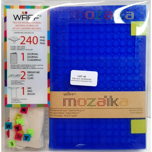 42 - Waff Soft Blue Creative Kit Silicone Journal, with 240 pins & More. RRP £33.07...