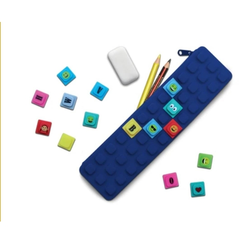 49 - Waff: Navy Kase With 20 Colourful Cubes. RRP 9.97...