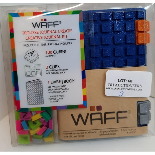 60 - Waff Soft Blue Silicone Journal, with 100 Alphabet Cub. RRP £17.13...