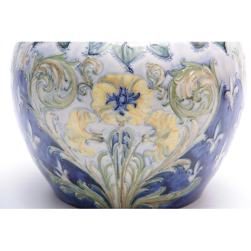 51 - AN UNUSUAL MACINTYRE AND CO LARGE BULBOUS FLORIAN WARE VASE DESIGNED BY WILLIAM MOORCROFT intricatel...
