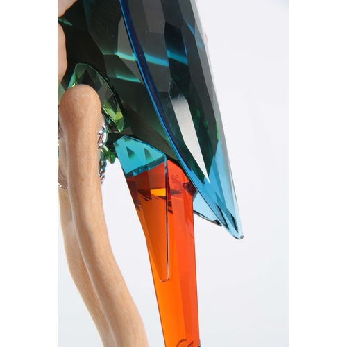 2 - A 20TH CENTURY SWAROVSKI CRYSTAL BIRDS OF PARADISE COLLECTION MACAW 23.5cm high, boxed....