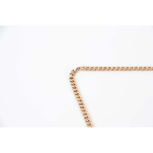 320 - A 9CT GOLD NECKLACE 46.7cm long, app. 16.9g...