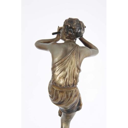572 - JOSEPH LORENZL. AN IMPRESSIVE ART DECO SILVERED BRONZE SCULPTURE OF LARGE PROPORTIONS modelled as 'T...