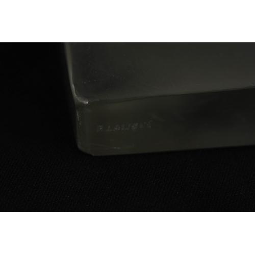 25 - A 20TH CENTURY R. LALIQUE PAIR OF HIRONDELLES BOOKENDS - etched signature R. Lalique 15.5cm high