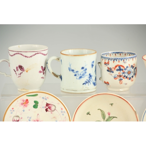 35 - A SELECTION OF 18TH CENTURY ENGLISH AND ORIENTAL PORCELAIN including a Liverpool Bowl 15cm diameter ...