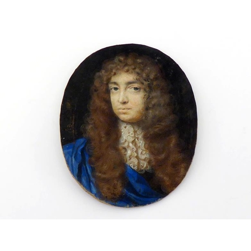 423 - Peter Cross (circa 1645-1724), a portait miniature of a gentleman called