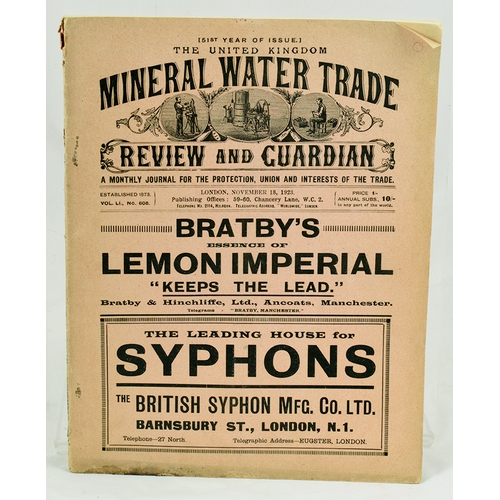 MINERAL WATER TRADE CATALOGUE  Features lots & lots of bottle