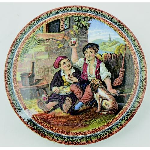 5 - THE QUEEN GOD BLESS HER PRATT LID. (KM 269) 5ins diam. Multicoloured image taken from The Pratt fact...