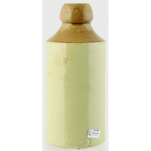 13 - Northampton Ginger Beer Bottle. 7ins tall, st, t. t., black transfer V. J. CULVERHOUSE/ CELEBRATED/ ...