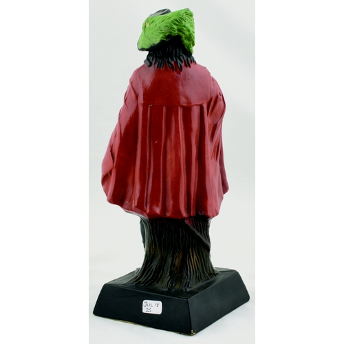 10 - MCEWANS EXPORT BACK BAR FIGURE. 9.5ins tall. Cavalier stood on plinth with drink in hand. MCEWANS EX...