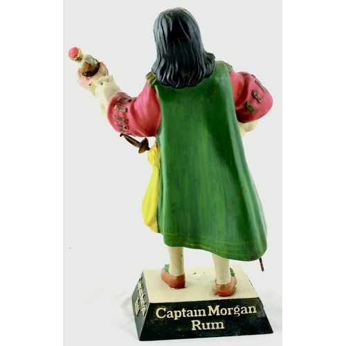 105 - CAPTAIN MORGAN RUM BACK BAR FIGURE. 12ins tall. An advertising brewery, rubberoid figure, stood on p...
