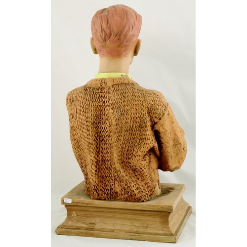26 - PETER WERTH SHOP DISPLAY FIGURE. 21.5ins tall. Rubberoid display figure of smartly dressed period ge...