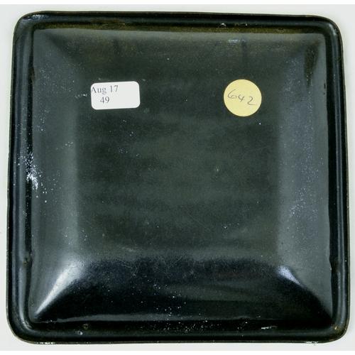 131 - WOODBINE ENAMEL ASHTRAY. 5ins across. White enamelled ashtray WOODBINE/ THE GREAT LITTLE CIGARETTE &...