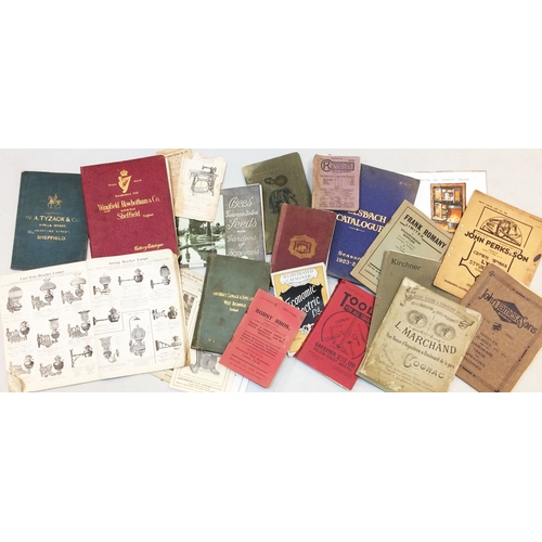 166 - TRADE CATALOGUES GROUP. A very interesting group of old trade directories: Yardley Home Trade, John ...