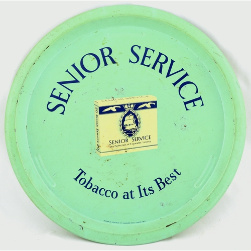 195 - CIGARETTE TRAYS GROUP.Largest 12.5ins. Circular trays for Players Please, Senior Service, Wills & Lu...