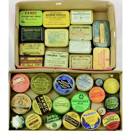 200 - TINS GROUP. Largest 4ins. Varied mix inc. Zubes, Famel pastilles, Kolynos Denture Fixative etc. Vari...