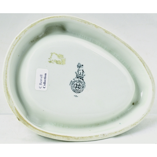 211 - FREDK JACOB & CO ASHTRAY. 5.25 by 4ins. Tear drop shape ashtray for FREDK & JACOB & CO LTD/ LONDON &...