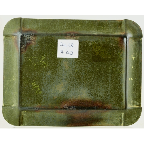 223 - JEWSBURY & BROWN MINERAL WATERS ASHTRAY. 4.75 by 3.75ins. Tin tray for JEWSBURY & BROWNS/ MINERAL WA...