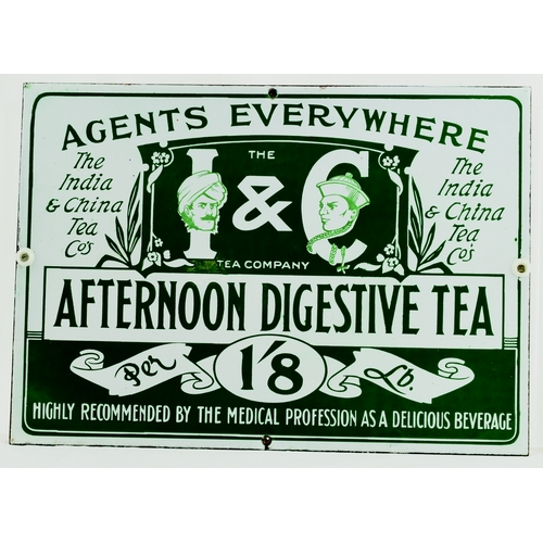 292 - AFTERNOON DIGESTIVE TEA ENAMEL SIGN. 14 by 10ins. Rectangular shape enamel for AFTERNOON DIGESTIVE T...