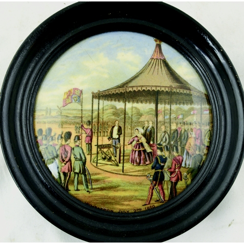 65 - WIMBLEDON, JULY 2ND 1860. (KM 219) 5.25ins diam in frame. Produced by the Pratt factory. Light stain...
