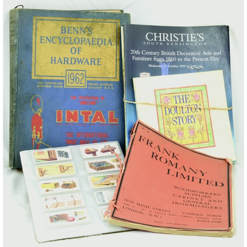 112 - MIXED POTTERY BOOKS GROUP. Inc. Doulton Stroy, Chrisites bundle, Benns Encyclopedia of Hardware 1962...