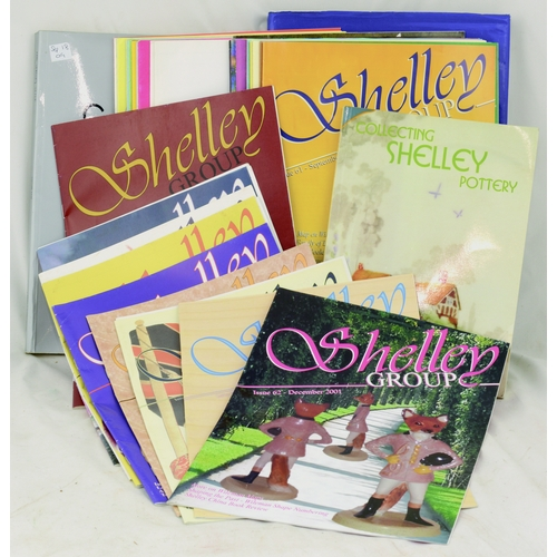 113 - SHELLEY POTTERY LITERATURE. Selection of Shelley Pottery magazines, catalogues & books....