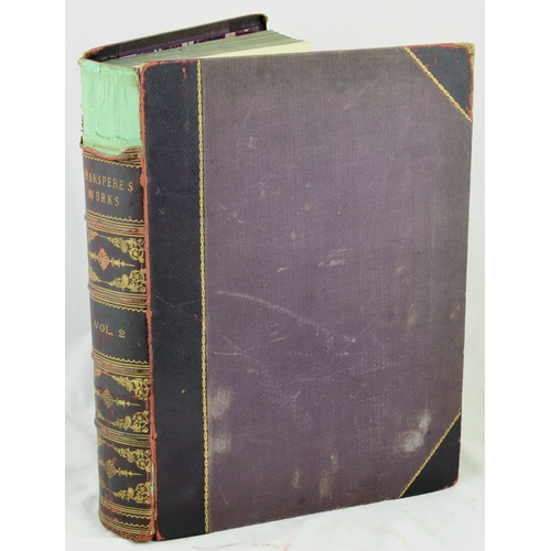 115 - THE WORKS OF SHAKESPEARE. Volume 2 by Charles Knight, some beautiful illustrations....