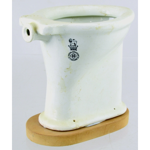 130 - TRADESMAN SAMPLES DUO. Inc. sink F Winkle & Co & Royal Doulton toilet (repaired). (2) (8/10)...