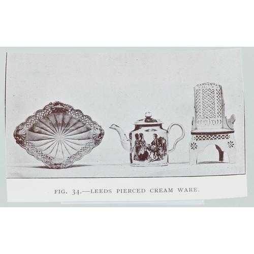 186A - LEEDS PIERCED CREAM WARE CHAIR. 7.75ins tall. Pierced floral & leaf detail. A well documented 'class...