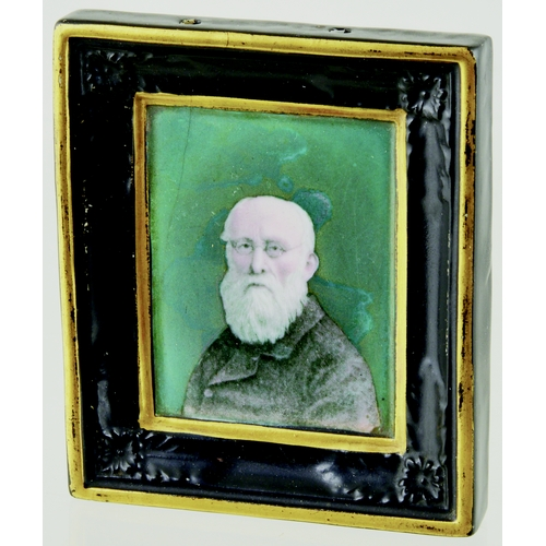 192 - PRATT PLAQUE. 3.75 by 3.25ins. Rectangular plaque with integral moulded frame, Felix Edwards Pratt b...