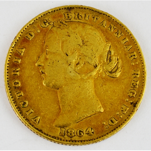 249 - AUSTRALIAN 1855 SOVEREIGN. Gold Australian soverign depicting Queen Victoria, dated 1855. 7.9g weigh...