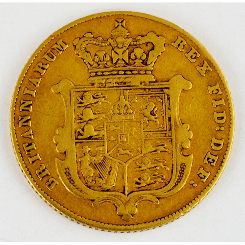 251 - GOLD SOVEREIGN. George IV, dated 1826. 7.8g weight, well worn....