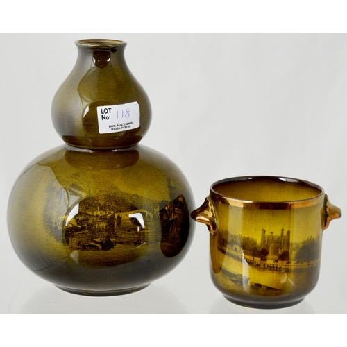 118 - RIDGWAY POTTERY ROYAL VISTA WARE GROUP. Inc. butter dish & cover, vases, bowls, serving dishes etc. ...