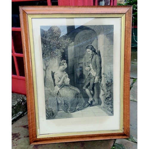 500 - FRAMED ENGRAVINGS. 35 by 27ins. Original sourced from Gladstones home, The First Appeal & The Last A...