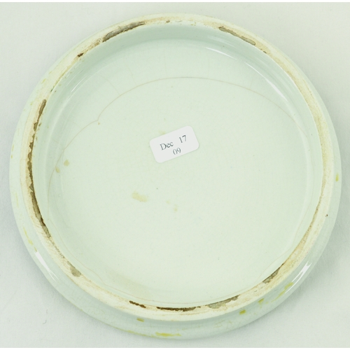 502 - BUCKINGHAM PALACE POT LID. (KM 174) 5ins diam. Multicoloured lid with title & fancy border, produced...