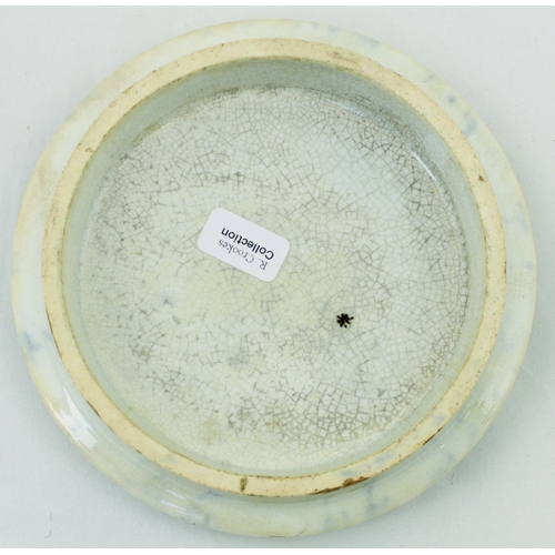 508 - THE BREAKFAST PARTY POT LID. (KM 320) 4.25ins diam. Multicoloured lid produced by the Mayer factory,...