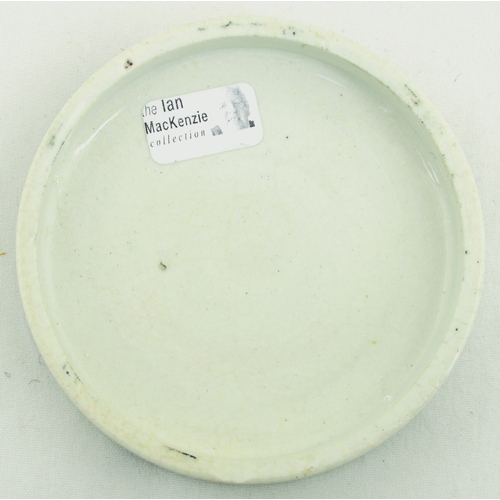 529 - EDINBURGH COLD CREAM POT LID. (APL p 540, 45) 2.75ins diam. Black transfer for WILLIAM INMAN & CO LD...