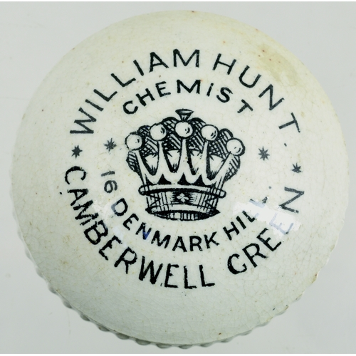 532 - CAMBERWELL GREEN BUTTON POT LID. (APL p 323, 110) 2ins diam. Cerated edge lid, black transfer for WI...