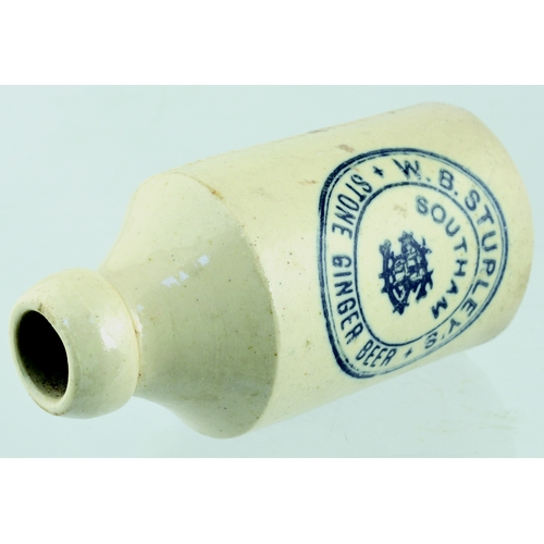 556 - SOUTHAM GINGER BEER SHAPE MATCHSTRIKER. 4.75ins tall. Matchstriker shaped as all white ginger beer. ...